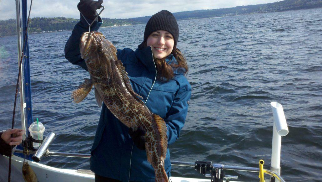Seattle Fishing Lingcod lady